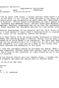 Jamin Wight: Supplemental Police Narrative page 3