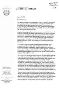 Douglas Wilson to Officer Green page 1