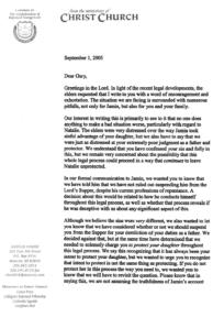 Douglas Wilson to Gary Greenfield, page 1