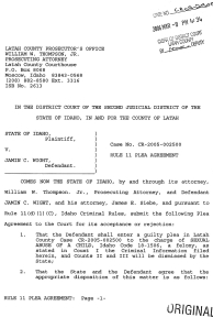 Rule 11 Plea Agreement page 1