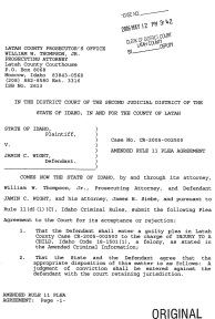 Amended Rule 11 Plea Agreement page 1