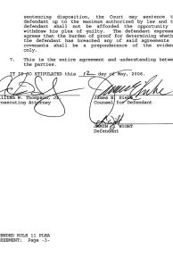 Amended Rule 11 Plea Agreement page 3