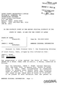 Jamin Wight, Amended Criminal Information, page 1