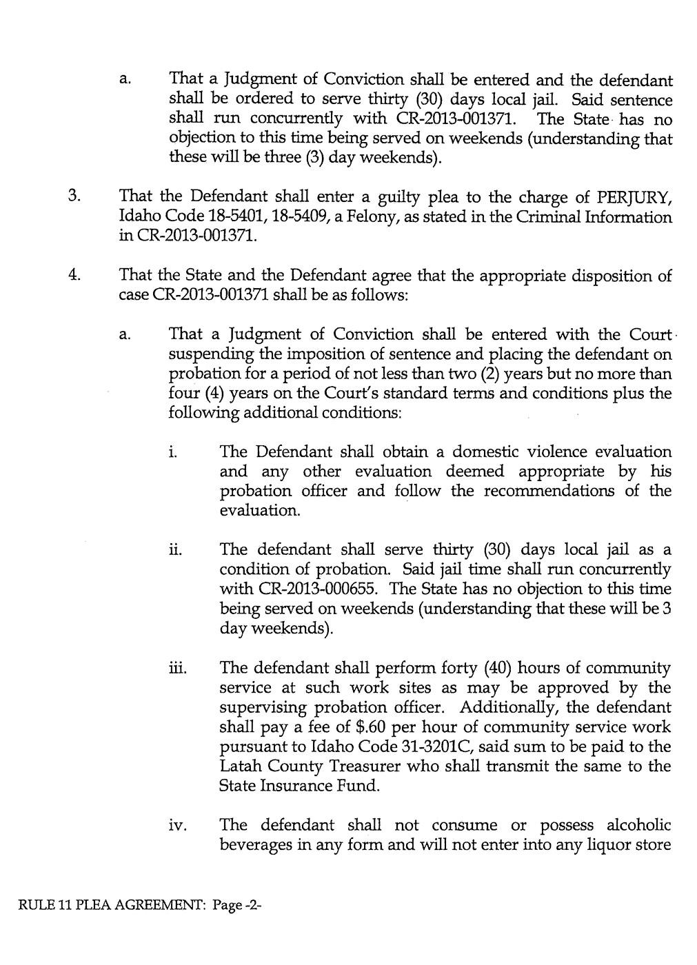 Jamin Wight: Rule 11 Plea Agreement page 2