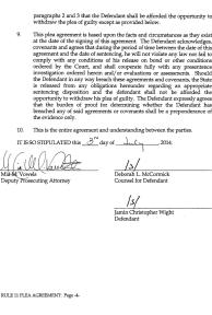 Jamin Wight: Rule 11 Plea Agreement page 4
